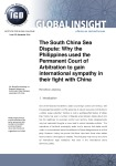 The South China Sea Dispute: Why the Philippines used the Permanent Court of Arbitration to gain international sympathy in their fight with China
